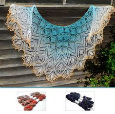 From Anna Victoria comes a lovely series of shawl designs called Fellowship of the Lace and Yarn, all loosely based on the works of JRR Tolkein. This one is cal...