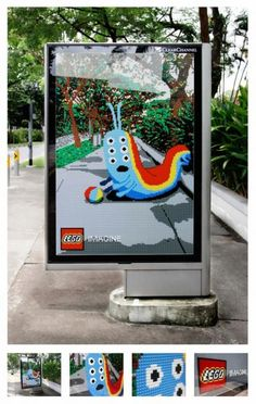 This ad just won Silver at Cannes. Ogilvy Malaysia hired some local Lego artists to create the posters that play off of the surrounding environment. Yes, they're actually made of Lego bricks