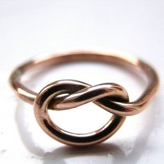 rose gold love knot ring by kirsty taylor jewellery | notonthehighstreet.com