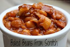 This Baked Beans From Scratch recipe is another winner from the Mennonite Girls Can Cook Cookbook. I& been using this cookbook like crazy lately and loving it. Their recipes are so wholesome and just good old fashioned home cooking goodness. No frills,. Baked Beans Crock Pot, Slow Cooker Baked Beans, Baked Beans With Bacon, Homemade Baked Beans, Beans In Crockpot, Bbq Beans, Baked Bean Recipes, Slow Cooker Recipes, Crockpot Recipes