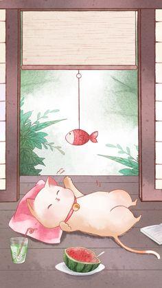 Cats – The Purrfect Companion? Cat Wallpaper, Kawaii Wallpaper, Cartoon Wallpaper, Japon Illustration, Cute Illustration, Cute Animal Drawings, Kawaii Drawings, Kawaii Cat, Cat Drawing