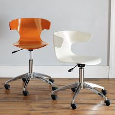 Wrap Office Chair  #westelm   This chair would match perfectly with my vintage desk that I had acid washed....thanks for having it backordered for WEEKS & selling out of it west elm. Ugh.