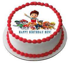 Paw Patrol 5 Edible Birthday Cake Topper