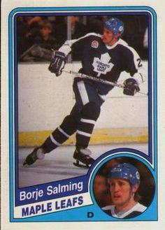 1984-85 O-Pee-Chee #311 Borje Salming Front