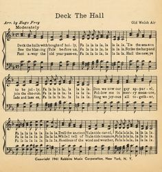 Deck the Hall...Printable Christmas Music Pages - Knick of Time