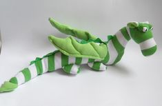 sock dragon by Treacher Creatures, via Flickr