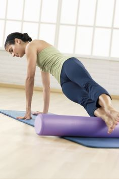 Rolling out on the Foam Roller Joseph Pilates, Yoga, Workout, Health, Fitness, Exercises, Model, Shape, Health Care