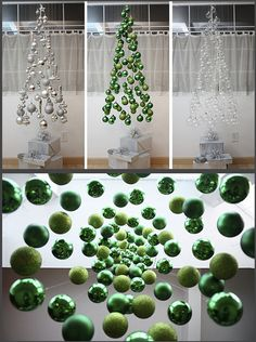 I really enjoy an alternative Christmas tree - think this is a nice solution