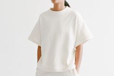 Available at chicedition.com  http://www.chicedition.com/baserange-short-basicsweat-offwhite.html
