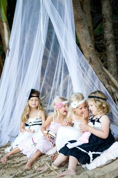High Tea On The Beach Party ( kids photo idea ) Would love to do this I already have a canopy. Can't wait for spring!