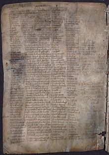 MS 1467, earlier known as MS 1450, is a mediaeval Gaelic manuscript which contains numerous pedigrees for many prominent Scottish individuals and clans. Transcriptions of the genealogies within the text were first published in the early 19th century and have ever since been used by writers on the clan histories. The 19th century transcriptions and translations from the manuscript have long been considered inadequate; yet there is no modern, scholarly edition of the manuscript.