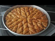 EN KOLAY BAKLAVA YÖNTEMİ BUDUR👌OKLAVASIZ!!! 4 BEZE ILE 1 TEPSİ BAKLAVA YAPIYORUZ👌🎯 - YouTube Baklava Cheesecake, Apple Pie, Hummus, Waffles, Breakfast, Desserts, Youtube, Food, Amigurumi