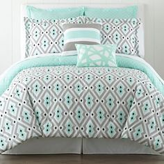 Nina Comforter Set This bed set would go perfectly with this light: http://www.dlights.ca/itemdetail.aspx?k=172228#.VNkjmfnF_uJ