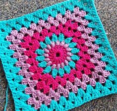 Ravelry: Project Gallery for Lodge Granny Square pattern by Priscilla Hewitt