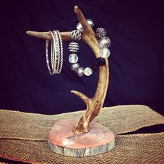 Deer Antler Jewelry Holder - available on etsy! Hold your jewelry, rings, watches...etc. looks great on a dresser or in the bathroom! Antlers are from whitetail deer in Texas.