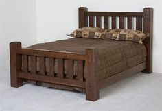 Twin Bed Furniture, Log Bedroom Furniture, Home Furniture, Oak Bedroom, Furniture Stores, Master Bedroom, Modern Bedroom Design, Bed Design, Headboards For Queen Beds