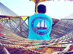 WOW! This is an amazing picture taken from Sarah of one of our representatives Jake! This picture shows the true definition of Enjoying the #PalmLife  This is our Pocketed Lagoon Blue Yacht Club shirt sold on USAPALM.COM