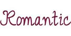 Romantic Font Includes PDF color sheet and all of the following sizes: 2.5″ 3″ 3.5″ 4″ 4.5″ 5″ & 5.5
