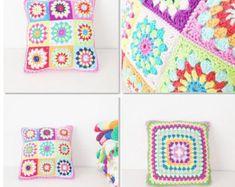 CROCHET PILLOW PATTERN Reversible pillow pattern Crochet