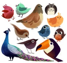 60 Best Ideas For Bird Cartoon Art Character Design Art And Illustration, Character Illustration, Art Illustrations, Cartoon Kunst, Cartoon Art, Desenho Kids, Animal Drawings, Art Drawings, Character Design Inspiration