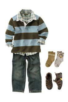 Love Gymboree clothes: My oldest son used to love to dress like this... Be instyle and fashionable... ;-( Now it's warm up pants and sweatshirts EVERYDAY!! ;-(