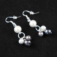 Boucles d'oreilles perles verre nacrées | My Creation | CreaTis and Beads