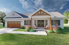 Houseplan 2699-00002 Ranch House Plans, Best House Plans, Small House Plans, 2 Bedroom House Plans, 2 Bedroom House Design, One Floor House Plans, Rambler House Plans, Ranch Style Floor Plans, Retirement House Plans