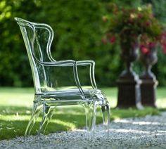 Transparent arm chair