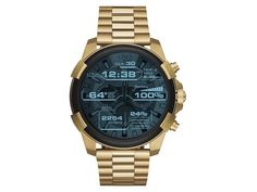 Men's Men's Gold-Tone Diesel On Full Guard Touchscreen Smartwatch Sport Watches, Cool Watches, Watches For Men, Casual Watches, Amazing Watches, Wrist Watches, Men's Watches, Fashion Watches, Men's Fashion