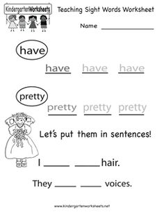 math worksheet : free kindergarten english worksheet printable  children education  : Printable English Worksheets For Kindergarten