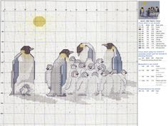 Cross-stitch Penguins Collection