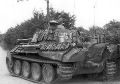 Panther Tank Ausf D with drum type copula