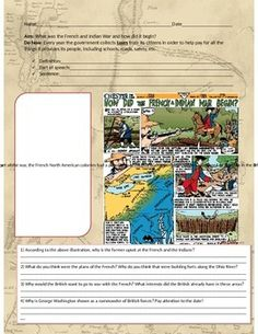 In this lesson students will learn about the French and Indian War, and how the finances spent by the English led to heavy taxes on the 13 colonies and eventually, the American Revolution. Throughout the lesson there is a writing prompt, graphics, illustrations, graphic organizers and comprehension questions for students to complete.