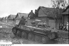 A German Panzer 38(t) in the early days of the Operation Barbarossa invasion of the Soviet Union (ca. June 1941)