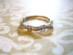 Antique Art Deco Engagement Wedding Band by charmingellie on Etsy, $87.00