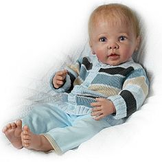 Linda Murray Noah's Happy As Can Be Realistic Interactive Baby Boy Doll