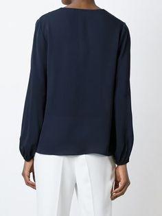 Diane Von Furstenberg Blusa de seda com decote em V