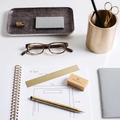 A thick brass pocket ruler. Take everywhere or keep it as a beautiful and practical desktop tool. x x etched brass Cable Hider, Desktop Gadgets, Desk Supplies, Office Supplies, Pencil Cup, Workspace Inspiration, Office Makeover, Work Tools, Mechanical Pencils