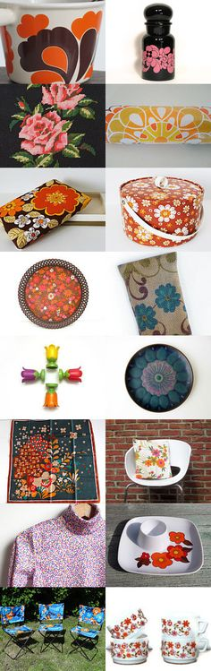70s Flower Power by Nathalie de Barstch on Etsy--Pinned+with+TreasuryPin.com