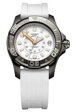 Victorinox Swiss Army® 'Dive Master' Round Rubber Strap Watch available at #Nordstrom