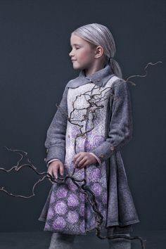 Winterrose coat AW15 by MOLE - Little Norway - supersoft and light wool for the little lady