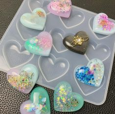 UV Resin Jewelry Liquid Silicone Mold Heart Charms Resin Molds For DIY Pendant Jewelry Making Molds - UV Resin Jewelry Liquid Silicone Mold Heart Resin Charms Pendant Molds For DIY Intersperse Decorate - Diy Silicone Molds, Resin Molds, Resin Jewelry Molds, Resin Jewelry Making, Uv Resin, Resin Art, Melt And Pour, Diy Resin Crafts, Cool Crafts