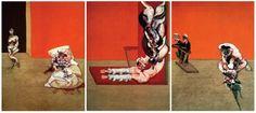 Francis Bacon, Crucifixion (1965). Bayerische Staatsgemäldesammlungen, Munich.