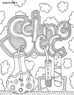 Printable SCIENCE! Coloring page!