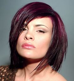 black cherry hair color | Medium Length Bob Hairstyles for Fine Hair