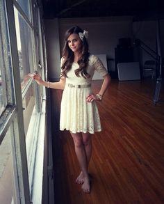 Tiffany Alvord White Lace Dress.
