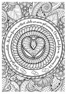 "FREE printable adult coloring sheets w/ bible verses. Everyone says it is a great stress reliever! The finished projects always look so pretty and I have seen some framing them. I ordered coloring pencils from Amazon, nothing pricey. And Time Warp Wife offers a FREE printable design from her website every Friday!! You can find it under the Bible Study Resources ""Learning to Love"" Study links. @timewarpwife Visit my site: http://www.diaryofadeaconswife.com/"