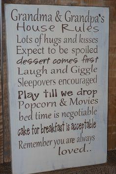 Grandma and Grandpa's House rules