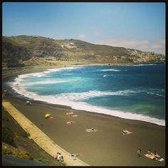 Playa de La Laja en Las Palmas de Gran Canaria, Canarias