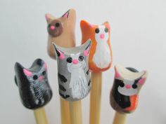 Cat Knitting Needles- made to order on premium bamboo Knitting Projects, Crochet Projects, Knitting Patterns, Sewing Projects, Knitting Supplies, Knitting Needles, Baby Knitting, Start Knitting, Crafts For Kids